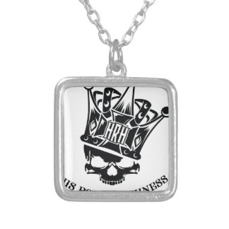 His Royal Highness Logo Square Pendant Necklace