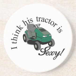 His Tractors Sexy Coaster