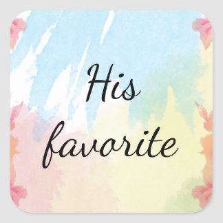 His Wedding Favor Stickers