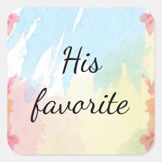 His Wedding Favor Stickers