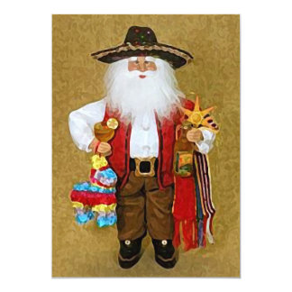 Hispanic Mexican Southwestern Texan Santa Claus Card
