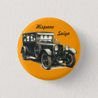 HISPANIC SWITZERLAND CLASSIC CAR 3 CM ROUND BADGE