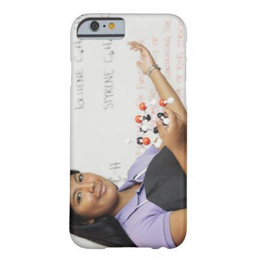 Hispanic teenaged girl in science class iPhone 6 case