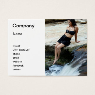 Hispanic Woman Waterfall Business Card