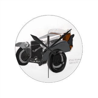 Hispano Suiza Closeup Round Clock