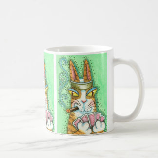 Hiss N' Fitz CAT POKER FACE MUG *Customize