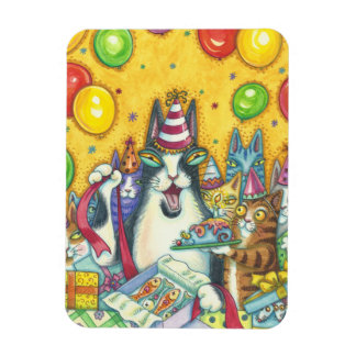Hiss N' Fitz Cats BIRTHDAY MAGNET *Customize