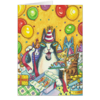 Hiss N' Fitz Cats HAPPY BIRTHDAY NOTE CARD