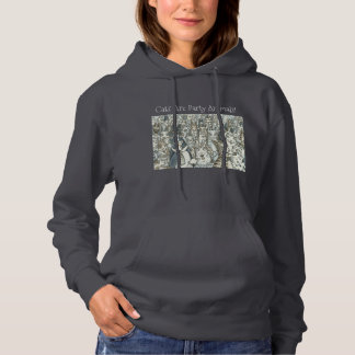 Hiss N' Fitz Cats PARTY ANIMALS! HOODED SWEATSHIRT