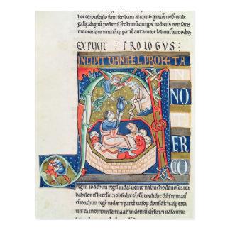 Historiated initial 'A' Depicting Daniel Postcard