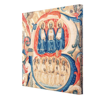 Historiated initial 'B' depicting the Trinity Gallery Wrap Canvas