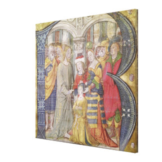 Historiated initial 'B' Gallery Wrap Canvas