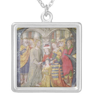 Historiated initial 'B' Silver Plated Necklace