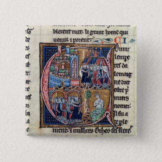 Historiated initial 'C' depicting Conrad III 15 Cm Square Badge