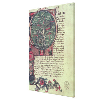 Historiated initial canvas print