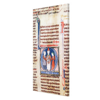 Historiated initial 'D' depicting a marriage Gallery Wrapped Canvas