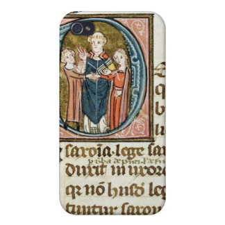 Historiated initial 'D' depicting a priest iPhone 4 Covers