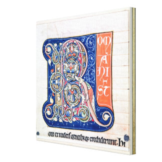 Historiated initial 'R' 2 Stretched Canvas Prints