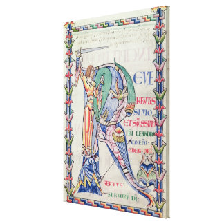Historiated initial 'R' Gallery Wrapped Canvas