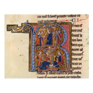 Historiated initial 'R' depicting the Sultan Postcard