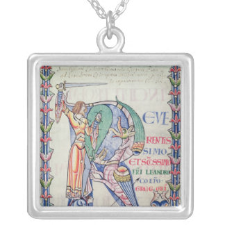 Historiated initial 'R' Personalized Necklace