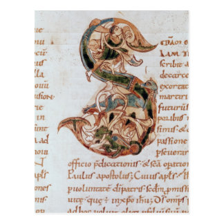 Historiated initial 'S' Postcard