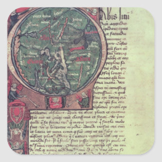 Historiated initial square stickers