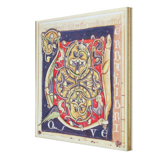 Historiated initial 'U' Canvas Print