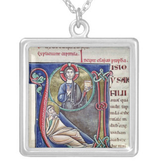 Historiated initial 'V' or 'U' Silver Plated Necklace