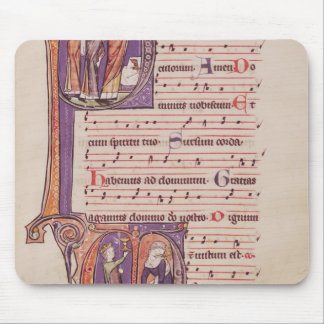 Historiated initials P Mousepads
