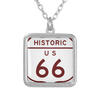 historic66 silver plated necklace
