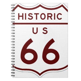 historic66 spiral notebook