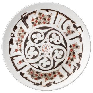 """Historic 10.75"""" Decorative Porcelain Plate"""