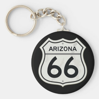 Historic Arizona US Route 66 Basic Round Button Key Ring