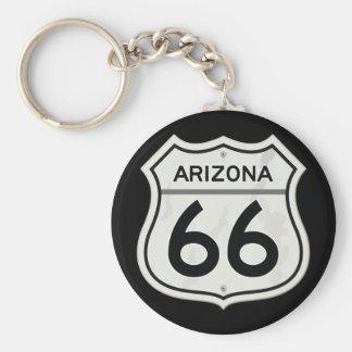 Historic Arizona US Route 66 Key Chain