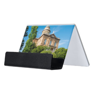 Historic Auburn California Courthouse Desk Business Card Holder