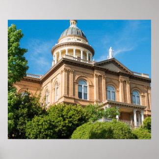 Historic Auburn California Courthouse Poster