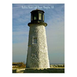 Historic Buckroe Beach Lighthouse Postcard