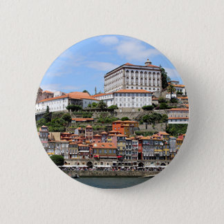 Historic buildings and river, Porto, Portugal 6 Cm Round Badge
