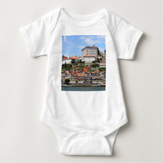 Historic buildings and river, Porto, Portugal Baby Bodysuit