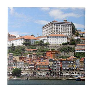 Historic buildings and river, Porto, Portugal Ceramic Tile