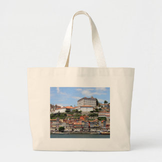 Historic buildings and river, Porto, Portugal Large Tote Bag