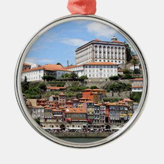 Historic buildings and river, Porto, Portugal Metal Ornament