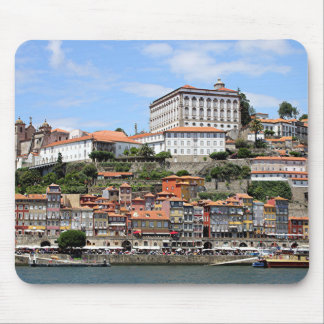 Historic buildings and river, Porto, Portugal Mouse Pad