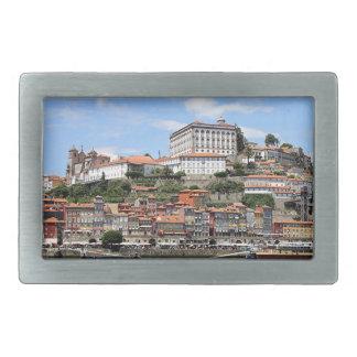 Historic buildings and river, Porto, Portugal Rectangular Belt Buckle