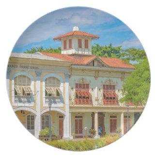 Historic Buildings, Guayaquil, Ecuador Plate