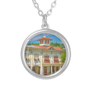 Historic Buildings, Guayaquil, Ecuador Silver Plated Necklace