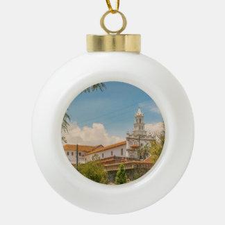 Historic Center of Cuenca, Ecuador Ceramic Ball Decoration
