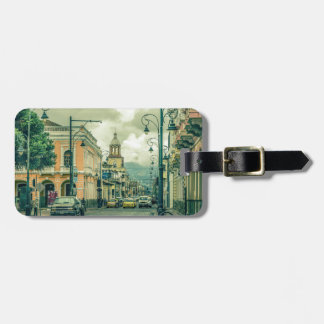 Historic Center Urban Scene at Riobamba City Luggage Tag
