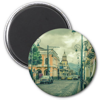 Historic Center Urban Scene at Riobamba City Magnet